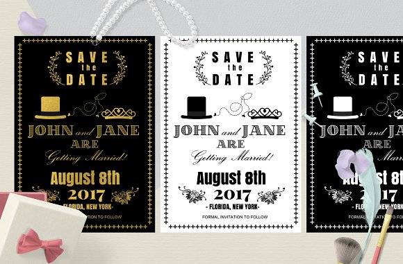 Classsic Save The Date Card