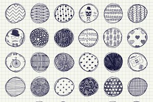 32 Pen Drawing Seamless Patterns