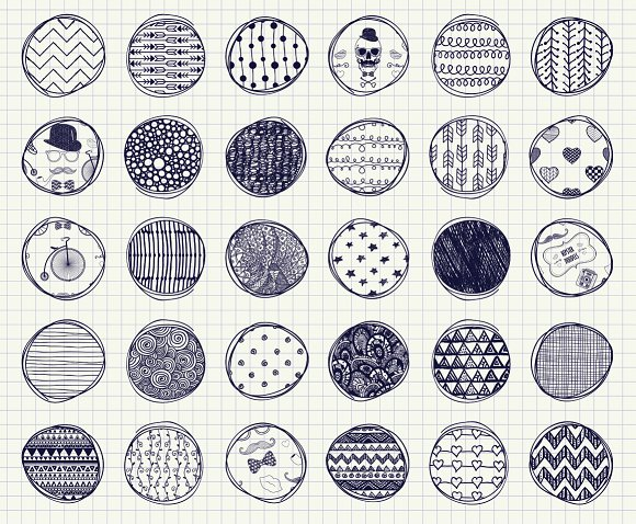32 pen drawing seamless patterns graphic patterns creative market