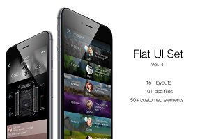 iOS Flat UI Set Vol. 4