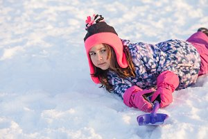 Girl on the snow