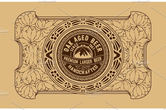 Old Beer Label
