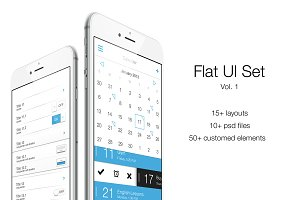 iOS Flat UI Set Vol. 1