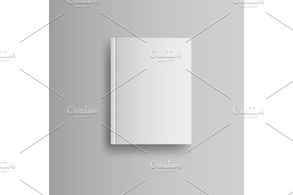 Blank Book Cover Graphic ~ Blank book cover graphics creative market