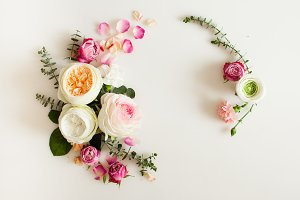 Floral wedding frame