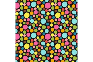 Seamless pattern. Cute polka dot texture. Hand drawn doodle