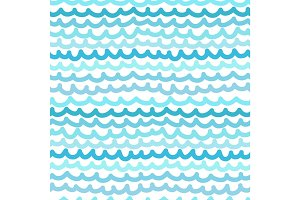 Seamless wavy pattern. Vector illustration
