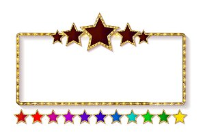 - Retro frame with five stars set.