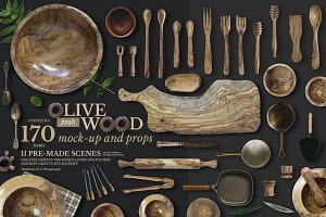 Olive Wood Mock-Up Scene Generator