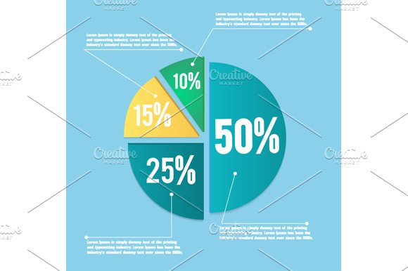 Business Pie Chart Graphics Creative Market