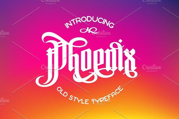 Phoenix Gothic Font
