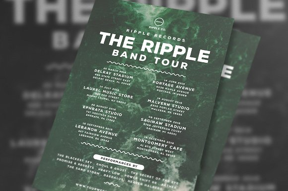 Indie Music Band Tour Flyer