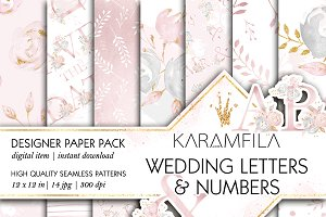Wedding Digital Paper Seamless
