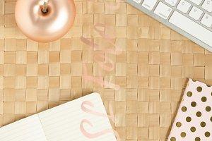 Gold rose summer desktop|Stock Photo