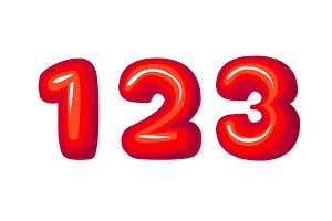 Red numbers