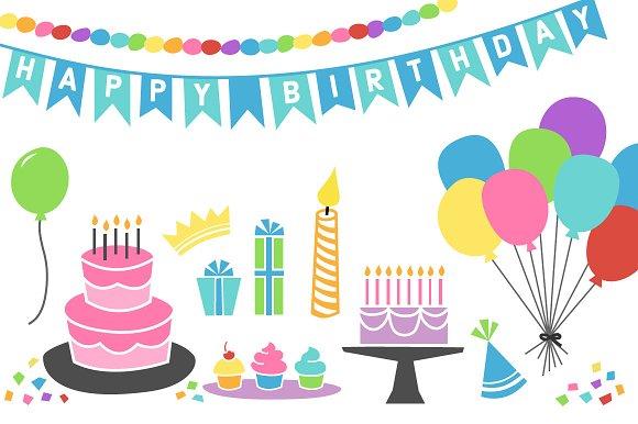 retro birthday graphics illustrations creative market