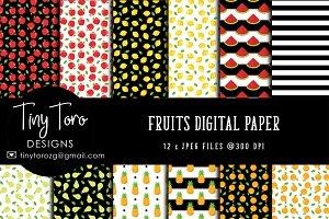 Fruits Digital Paper Pack