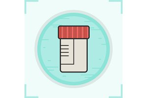 Medical tests jar color icon