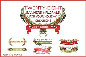 Christmas Banners & Florals