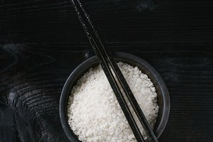 Bowl of white rice