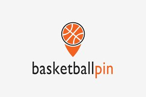 Basketball Pin Logo