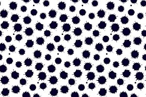Monochrome blot seamless pattern