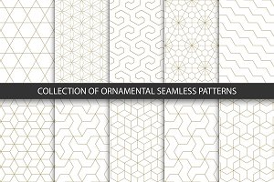 Ornament seamless geometric patterns