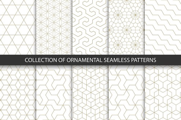 Ornament seamless geometric pattern…