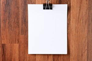Blank Paper Hanging on Wall