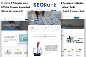 SEORank- SEO, Digital Agency HTML5