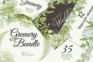 Greenery Bundle. 3 sets included.