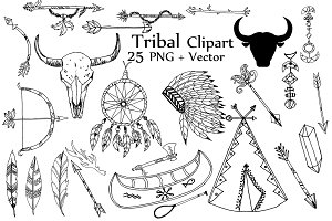 Vector tribal clipart