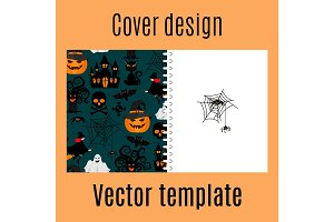 Cover design with halloween decorative pattern