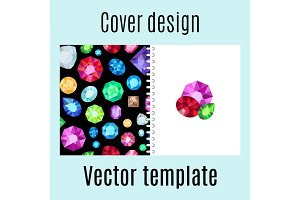 Cover design with jewels gem pattern