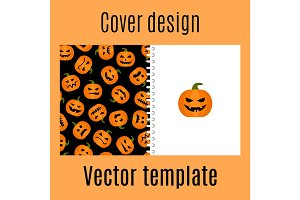 Cover design with pumpkin harvest pattern