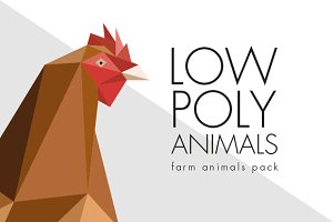Low poly animals-Farm animals pack