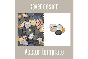 Cover design with river stones pattern