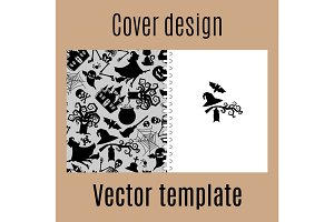 Cover design with halloween pattern