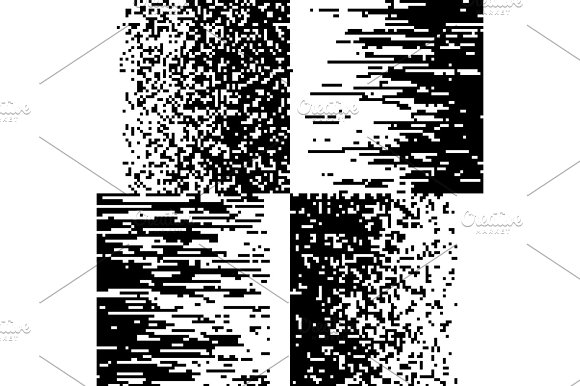 Black And White Pixelation Pixel Gradient Mosaic Pixelated Vector Backgrounds