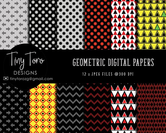Geometric Digital Papers Pack