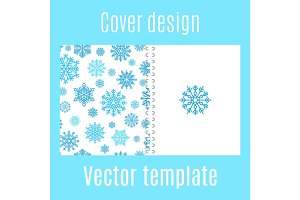Cover design with winter snowflake pattern