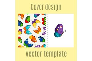 Cover design with butterflies pattern