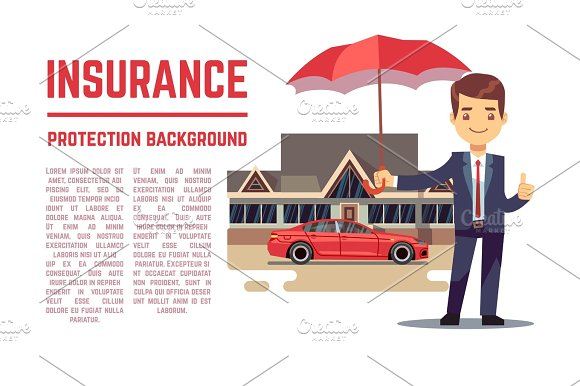 Insurance Vector Concept With Insurance Agent Showing Document Policy