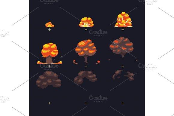 Vector Explosion War Game Blast Fx Animation Frames Sprite