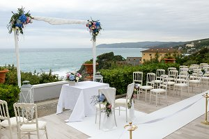 White wedding altar