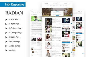 RADIAN - Responsive HTML5 Template
