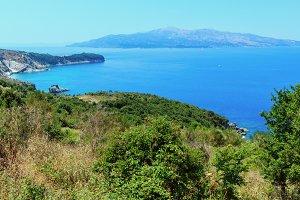 Ionian Sea summer coast, Albania.