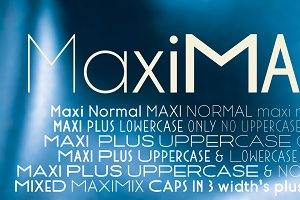 Maxi fonts