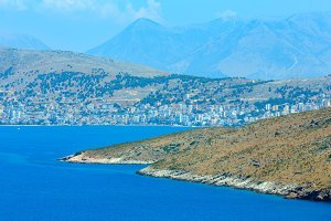Sarande town coast, Albania.