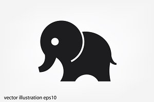 Elephant icon vector illustration